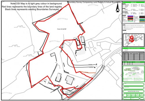 Land Registry Compared Against Actual Boundary on Ground